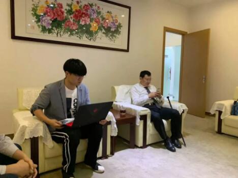 中链云物联网平台运营总监HarryHuang与蔡世尊主席.jpg