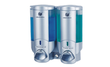 双头手动皂液器(银色)CD-2016B 200ml 酒店客房卫浴配套