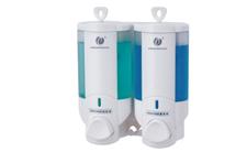 双头手动皂液器(白色) CD-2016A 200ml*2 酒店客房卫浴配套