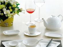 骨质陶瓷 东方顺边系列 餐具套装1  JJHOME酒店用品1  号店
