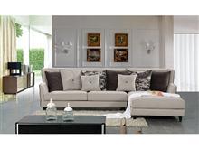 星级酒店用品 创意家具 现代风格 布艺沙发 靠垫拉钮 实木框架 自由组合 酒店客房用品