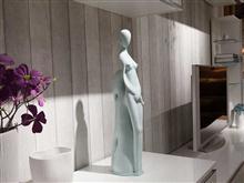 景德镇陶瓷雕塑 静静的守候系列之一