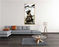 景德镇陶瓷艺术瓷板画 雪域精灵 牦牛